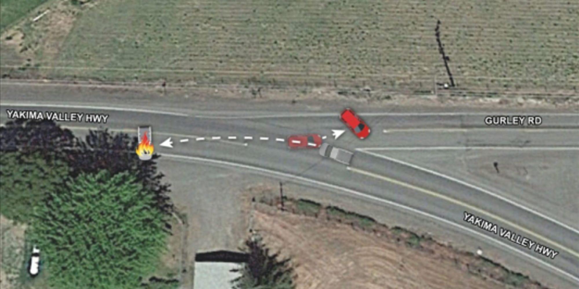 diagram of car crash