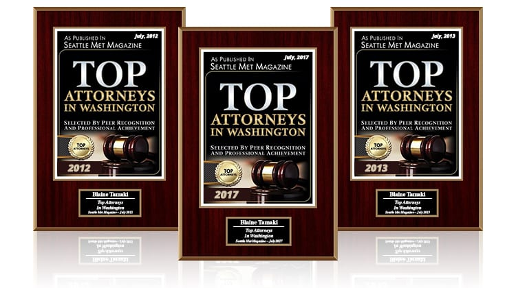 Top Attorneys in Washington Awards Earned by Tamaki Law