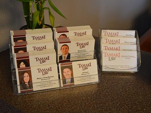 Tamaki Law Business Cards