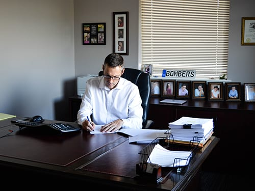 Jeff Kreutz at his desk