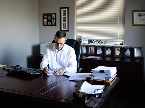 Jeff Kreutz at his desk