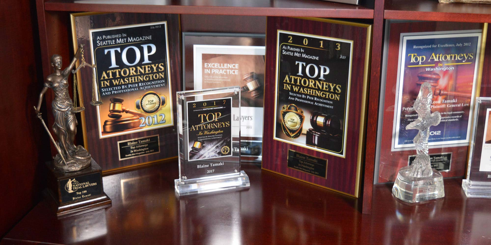 Top Attorneys in Washington plaques