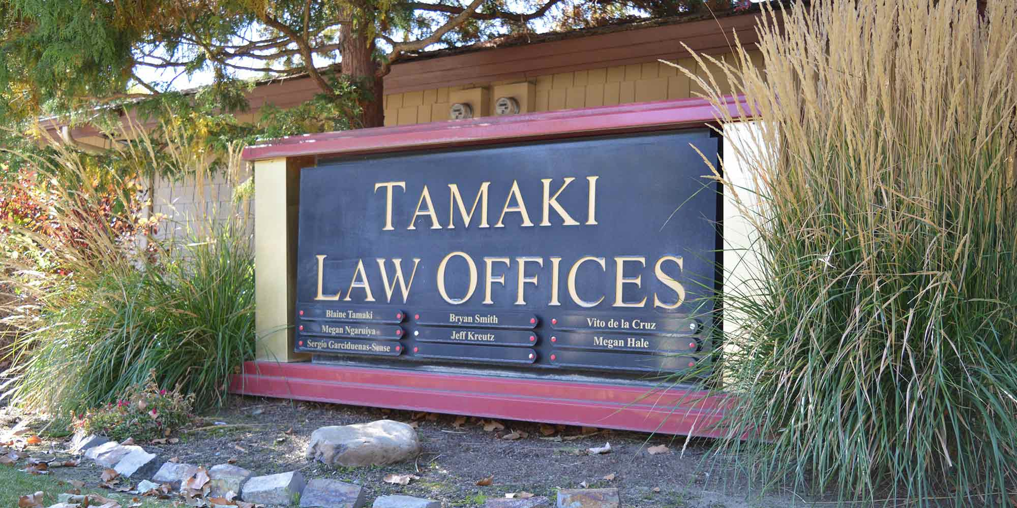 Tamaki Law Office sign