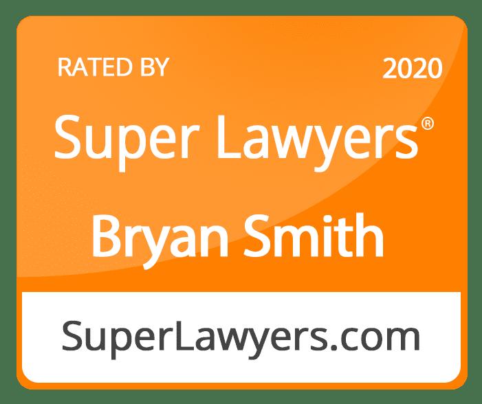 Bryan Super Lawyer badge 2020